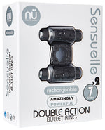 Sensuelle Double Action Cockring - 2x7 Function Black - PlaythingsMiami