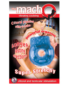 The MachO Collection Vibrating Cockring - Blue - PlaythingsMiami