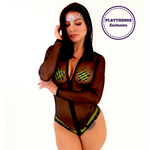*Exclusive* Hooded Bodysuit - PlaythingsMiami