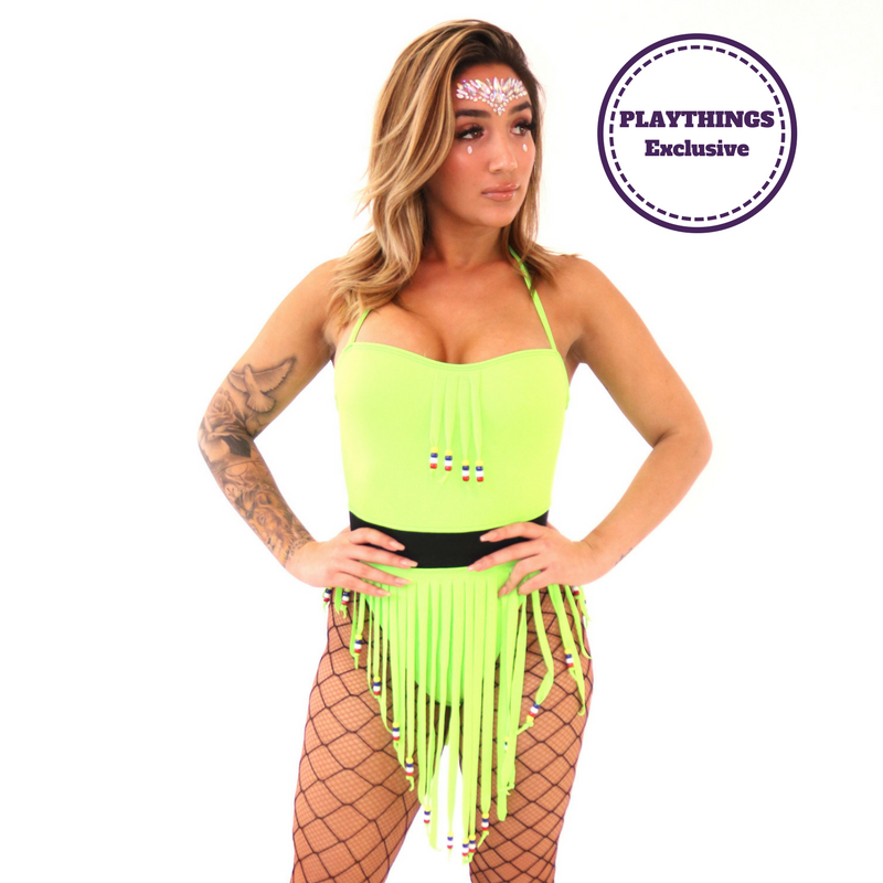 *Exclusive* Rave Hipster Fringe Bodysuit