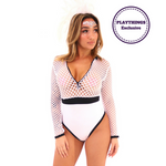 *Exclusive* Amar Fishnet Long Sleeve Bodysuit - PlaythingsMiami