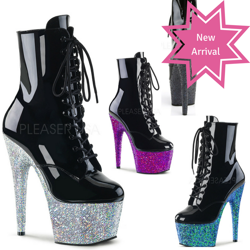 "Glitter Platform 7"" Ankle Boots - PlaythingsMiami"