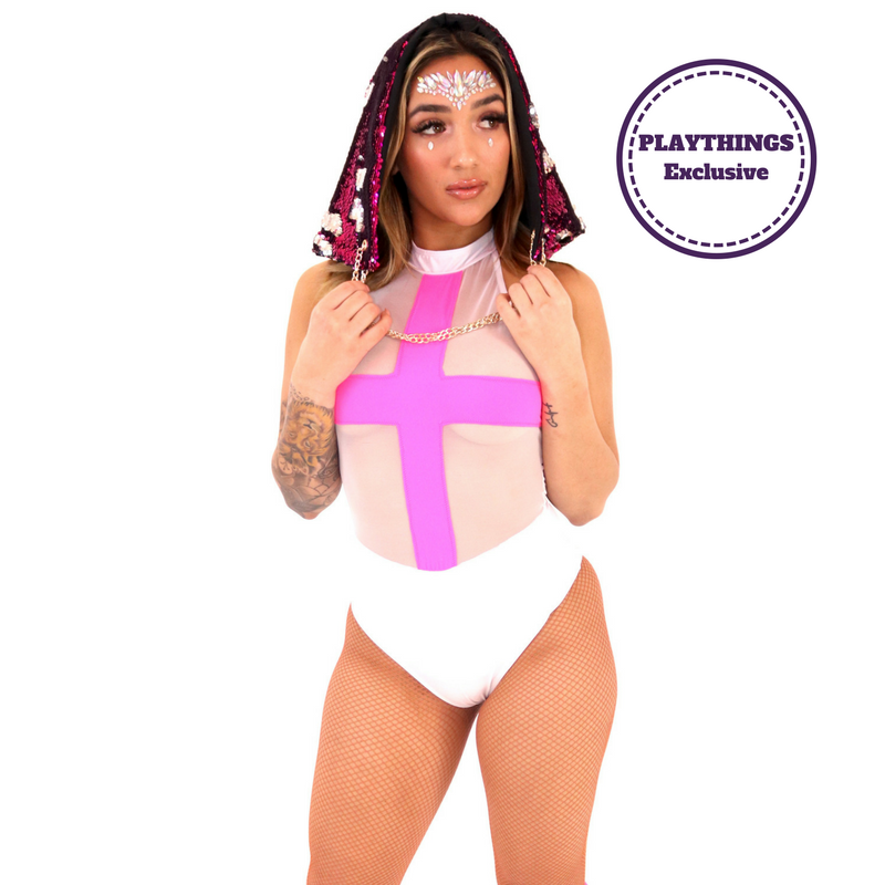 *Exclusive* Vexed Bodysuit High Collar - PlaythingsMiami