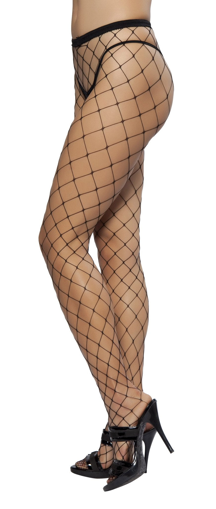 Open Fish Net Pantyhose - PlaythingsMiami