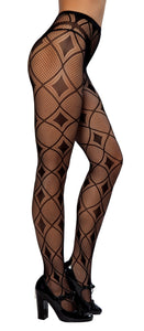 Diamond Print Pantyhose - PlaythingsMiami