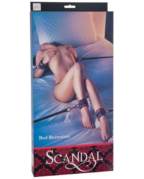 Scandal Bed Restraint Black/Red - PlaythingsMiami