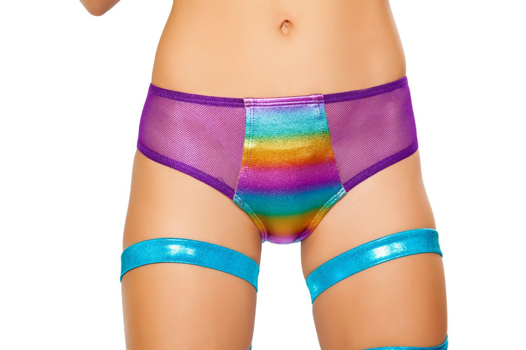 SH3331 Rave Shorts Miami Rainbow toned