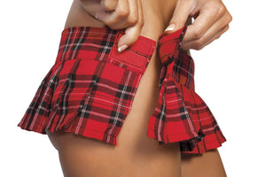 "6"" Pleaded Plaid Skirt - PlaythingsMiami"