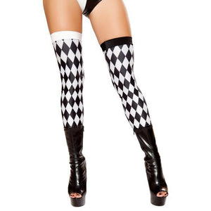 Jester Leggings Black/White - PlaythingsMiami