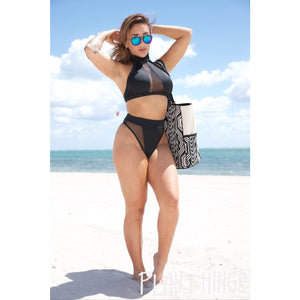 *New Collection* Halter Top Mesh Bikini Set - PlaythingsMiami