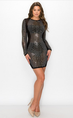 Rhinestone Design Dress