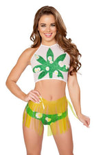 Sheer Leaf Top *Assorted Colors Available* - PlaythingsMiami