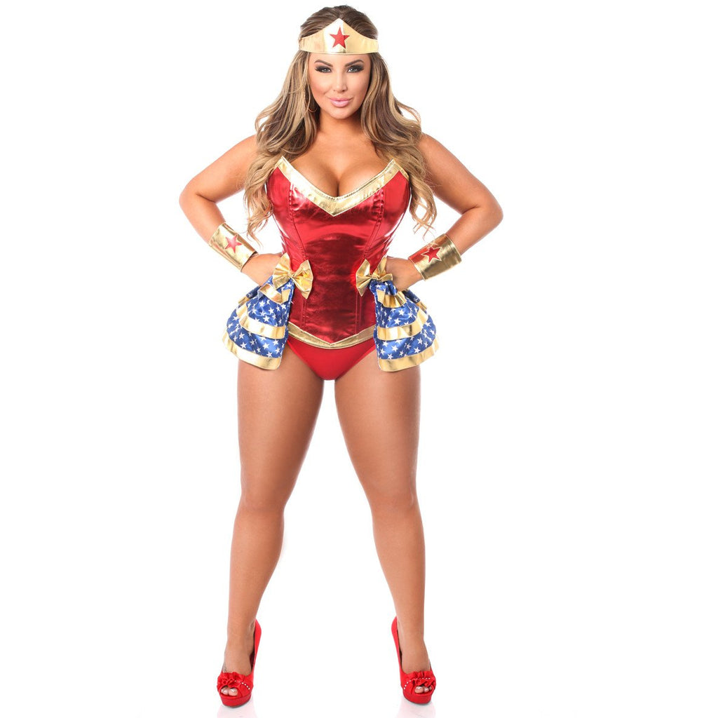 4 PC Superhero Corset Costume - PlaythingsMiami