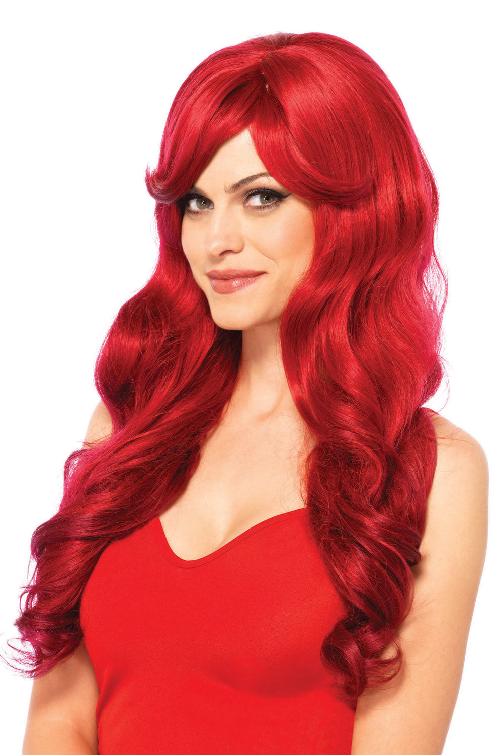 Long Wavy Wig Red - PlaythingsMiami