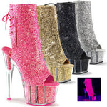 "7"" Heel Glitter Boot w/Hidden Zipper Pocket"