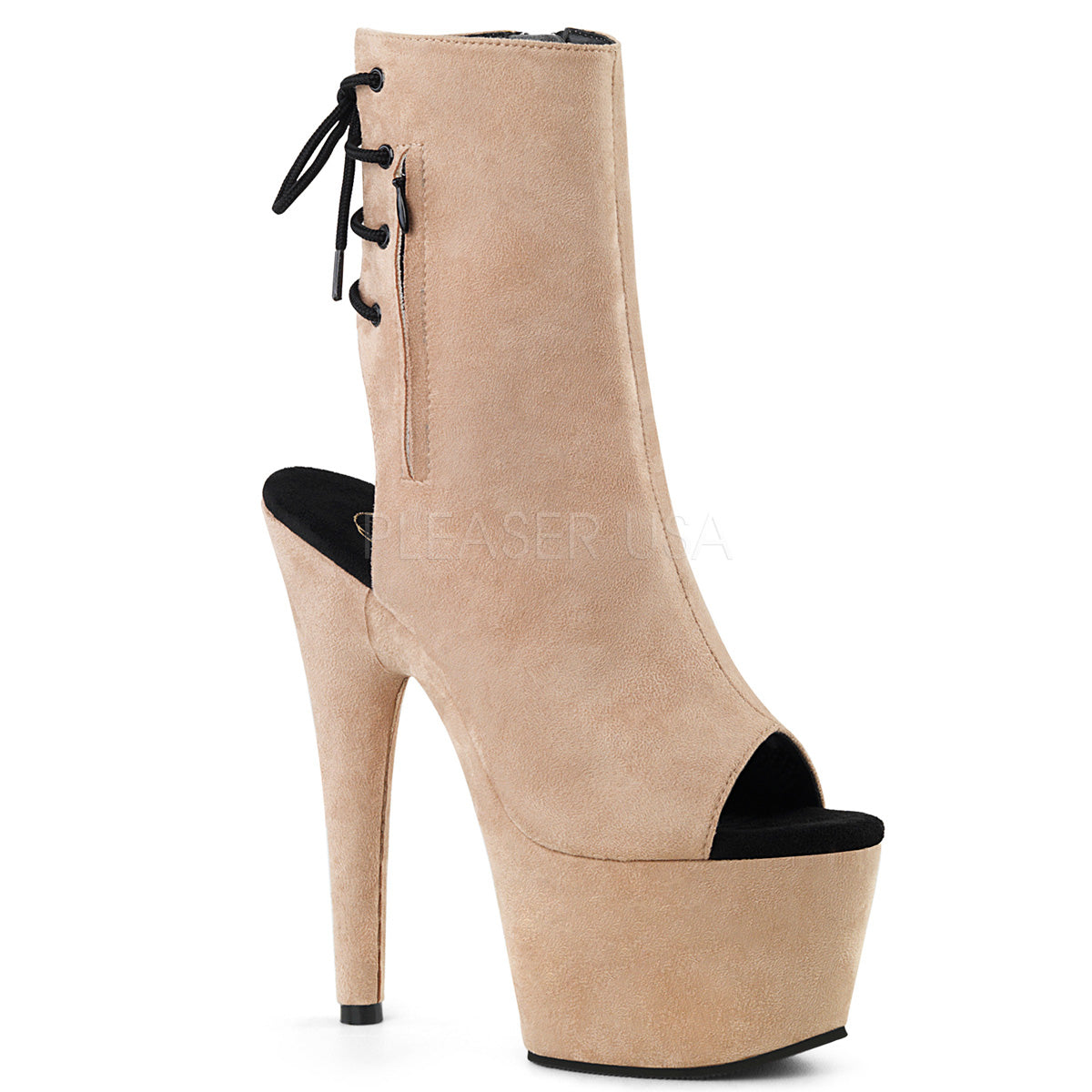"7"" Heels Platform Faux Suede - PlaythingsMiami"