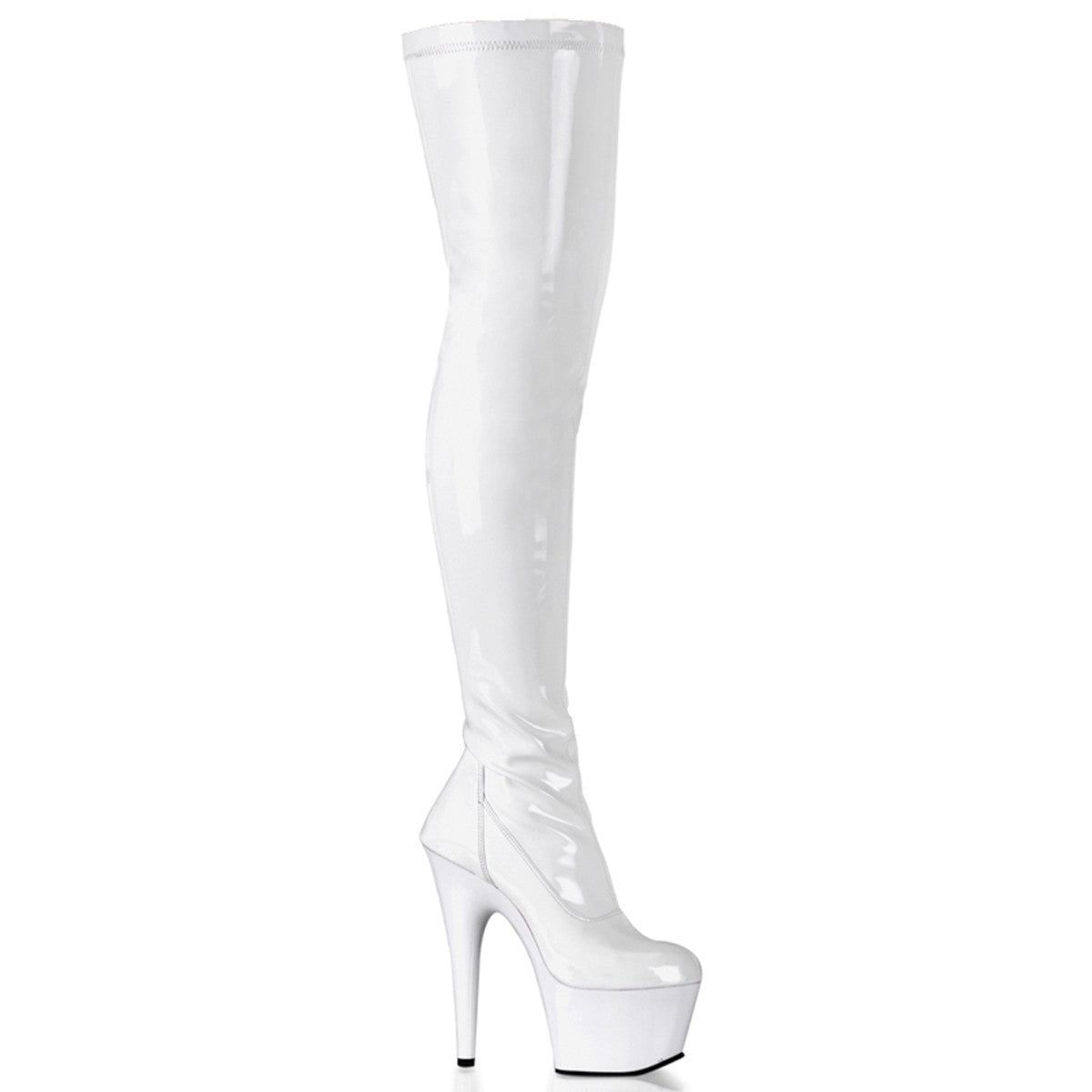 "7"" Plain Stretch Thigh Boots ADORE3000"