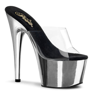 Stiletto Metallic Platform with Clear Band - PlaythingsMiami