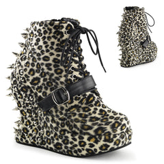 "5"" Wedge Ankle Booties W/Spike Studs"