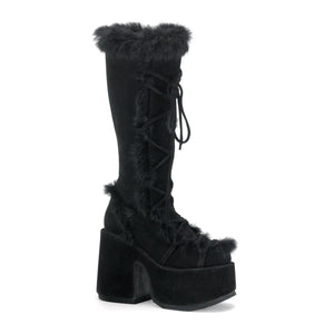 Black Dream Furry Boots - PlaythingsMiami