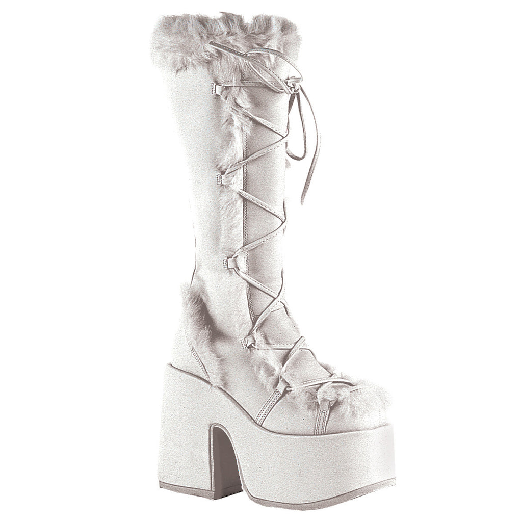 Artic White Furry Boots - PlaythingsMiami