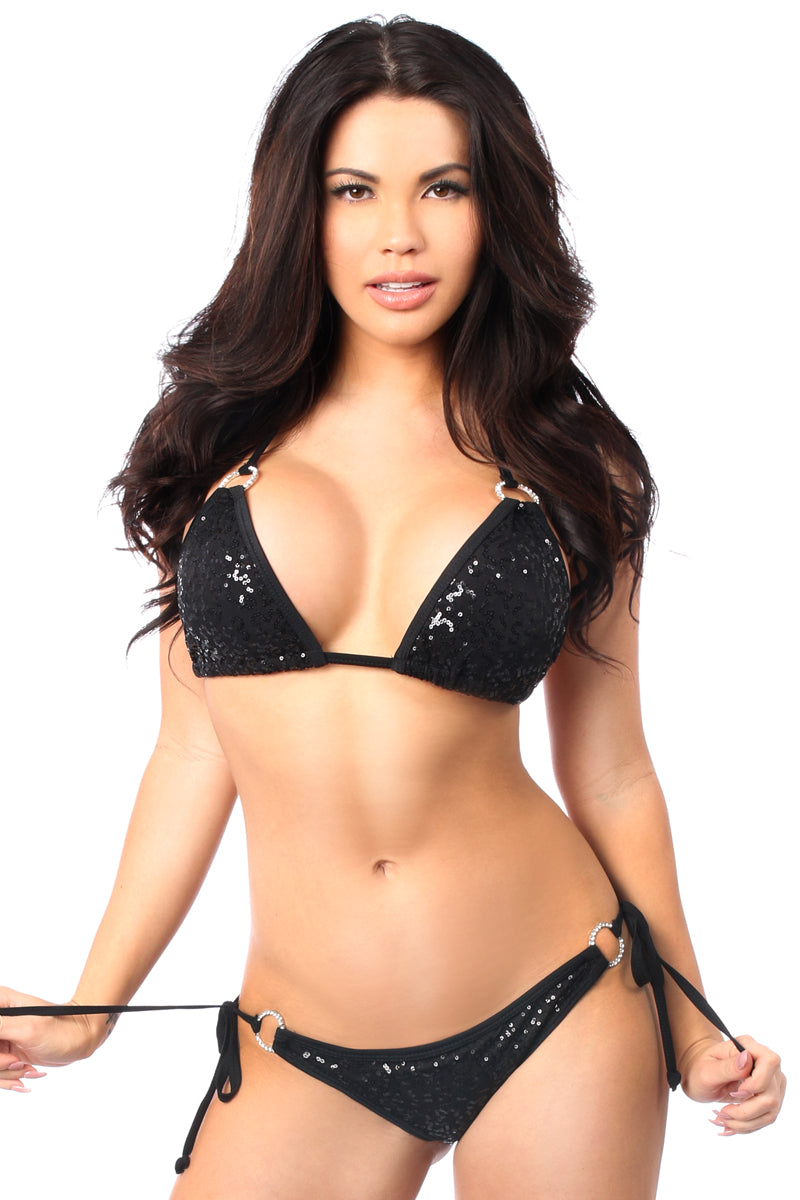 Sequin Rhinestone Bikini - PlaythingsMiami
