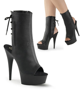 "6"" Stiletto Heel Open Toe/Heel Back Ankle Boot"