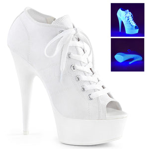 Sports Sneaker High Heel Booties DEL600sk - PlaythingsMiami