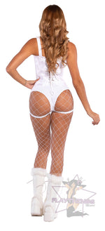 Exclusive Studded High Waisted Shorts with Garter