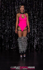 Bejeweled Bodysuit with Garter