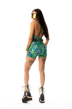Exclusive Weed Print Bodysuit