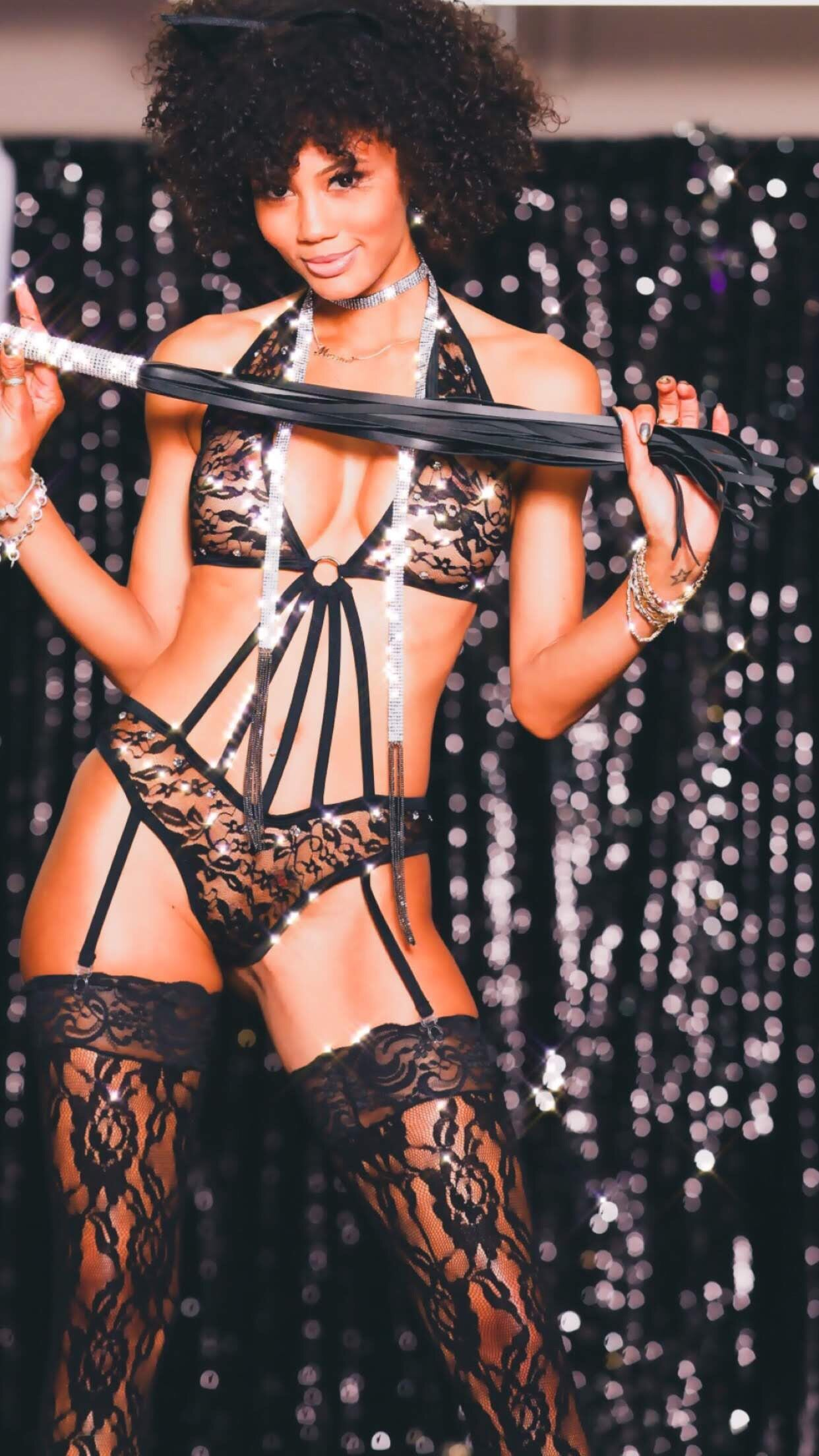 *Exclusive Lace Strappy Teddy XV001