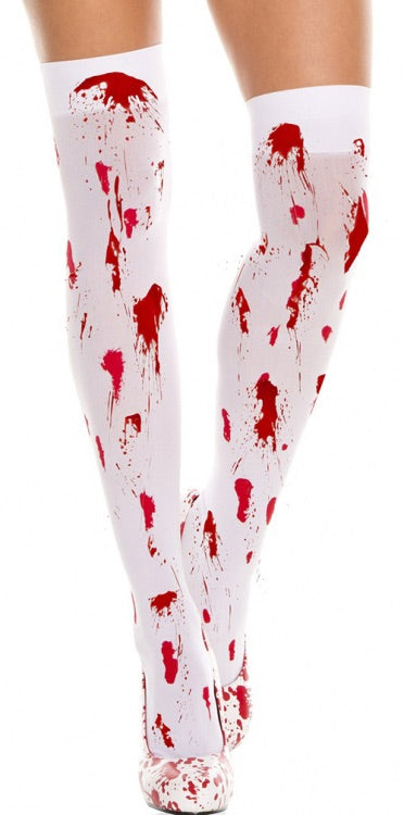 Bloody thigh highs