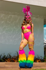 Exclusive 2pc Neon Pink Body Wrap Outfit