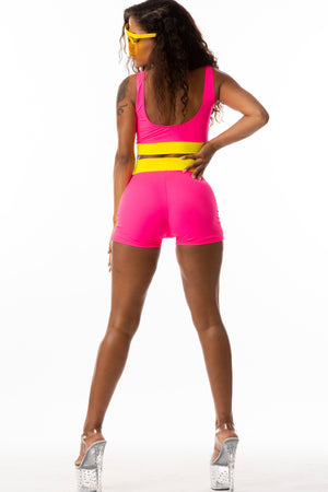 Exclusive 2pc Ready to Wear Hot Shorts and Top **** Retro Look**