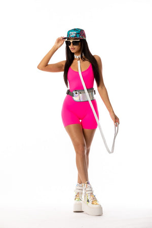 Exclusive Playthings Hot Pink Retro Bodysuit