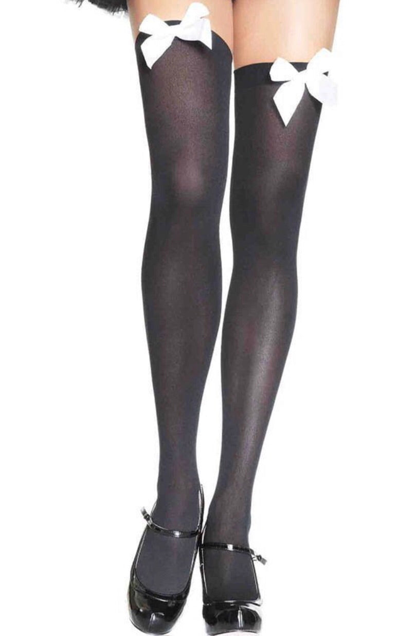 Bow Thigh High Stockings All Colors
