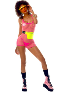 Exclusive Playthings  Pink Mesh Retro Bodysuit