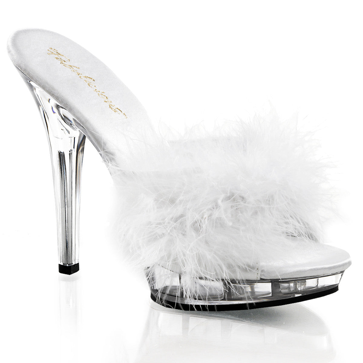 "5"" Stiletto Heel Marabou Slipper - PlaythingsMiami"