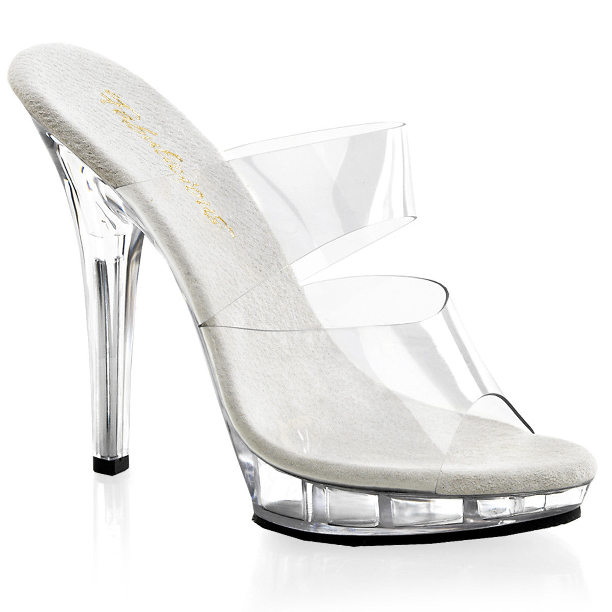 Sparkle Clear Double Strap heels - PlaythingsMiami