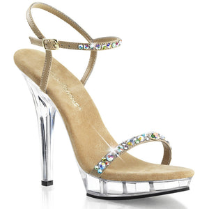 Bare it Clear/Nude Sandal with Stones│Heels