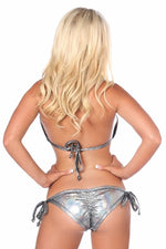 Shimmer Bikini with Rhinestone Detail