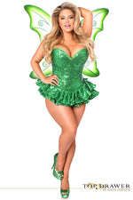 Sequin Green Fairy Corset Dress - PlaythingsMiami