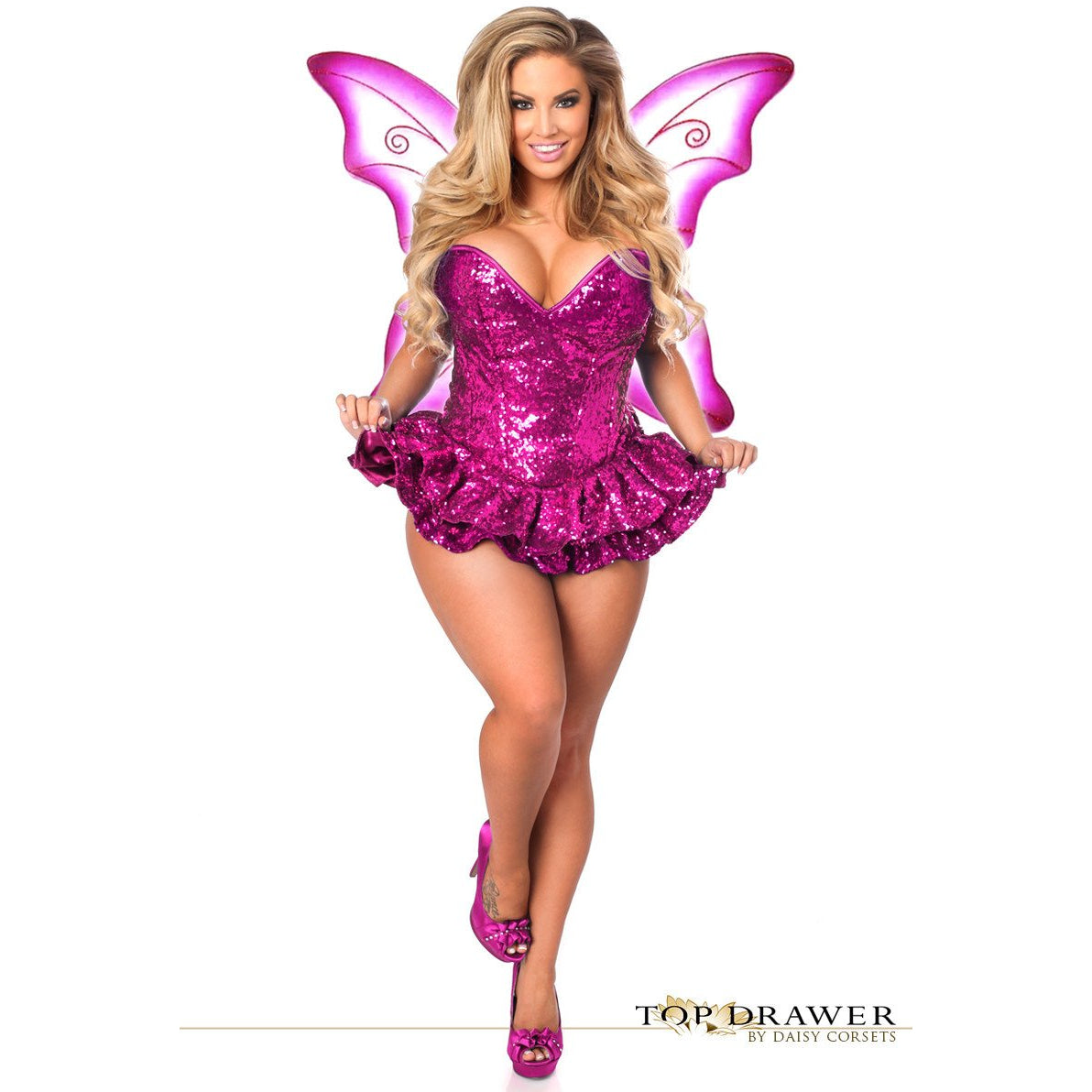 Premium Sequin Pink Fairy Corset Dress - PlaythingsMiami