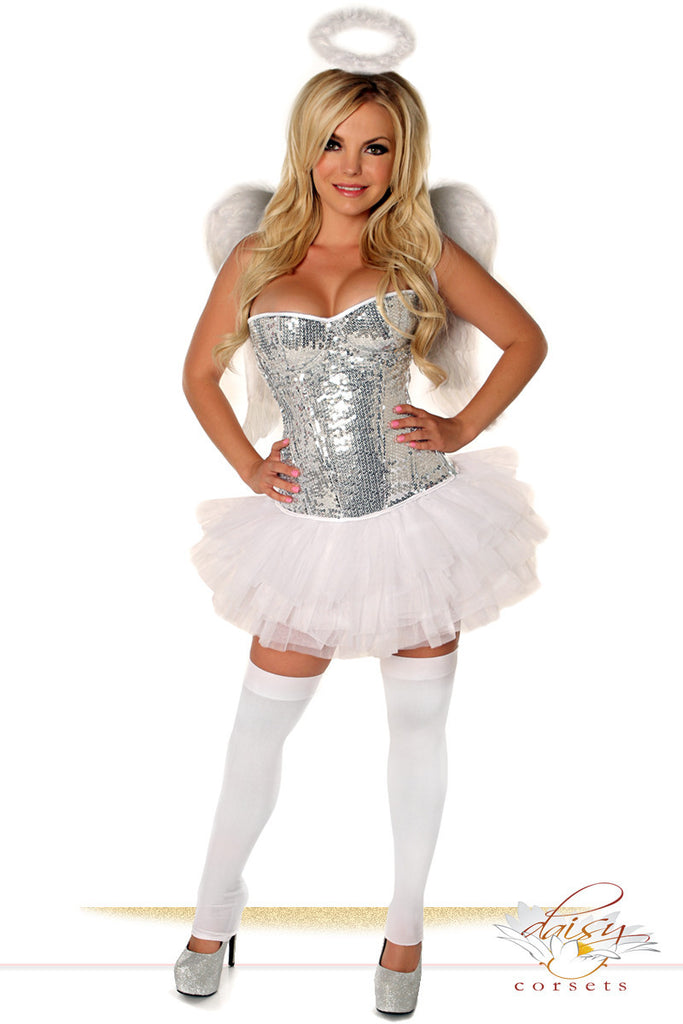 Silver Sequin Angel