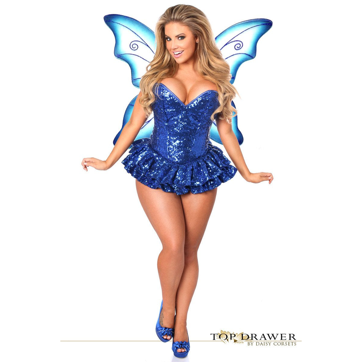 Premium Sequin Blue Fairy Corset Dress - PlaythingsMiami
