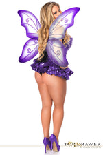 Premium Sequin Purple Fairy Corset Dress - PlaythingsMiami