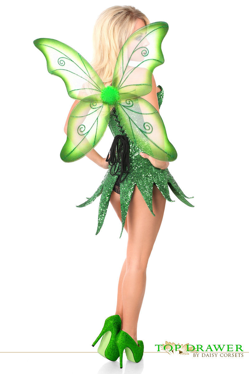 Green Sequin Fairy Corset Dress - PlaythingsMiami