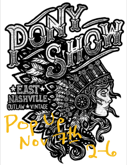 Pony Show Pop-up Nov 7th 2-6
