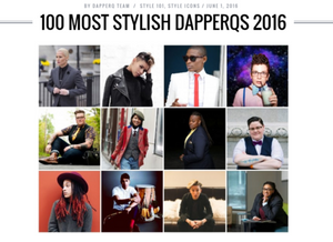 We were selected as one of the 100 Most Stylish Dapper Q's of 2016!